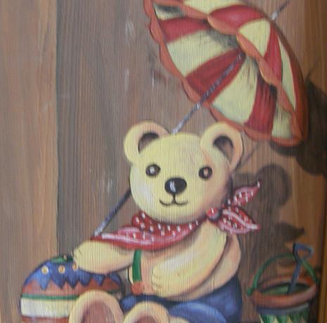 Nos Motifs - Ourson et son parasol